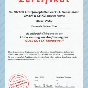 """Zimmerei-Zisler zertifizierter Partner von """"GUTEX"""""""