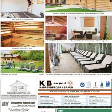 Sauna und Ruhehaus im AquaFit Waldmünchen